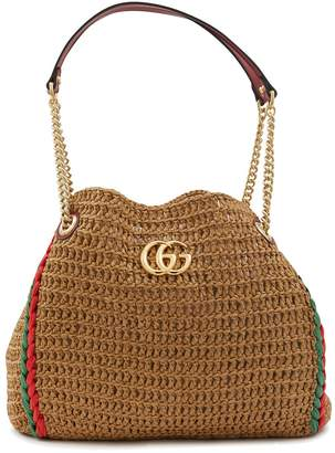 Gucci Large raffia tote bag