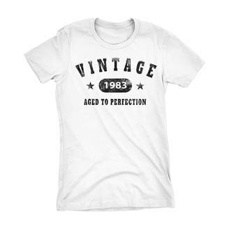 94b5c32c0a4 at Amazon Canada · Shirt Invaders 35th Birthday Gift Ladies Shirt - Stars -  Vintage 1983 Aged to Perfection
