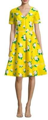 Draper James Magnolia Open Back Fit-And-Flare Dress