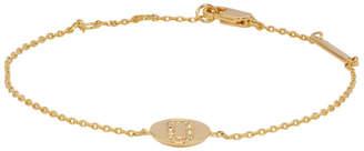 Marc Jacobs Gold Double J Pave Bracelet