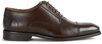 Reiss RESTON LEATHER OXFORD TOE CAP SHOES Dark Brown