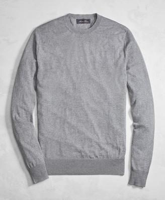 Brooks Brothers Golden Fleece 3-D Knit Fine-Gauge Merino Wool Crewneck Sweater