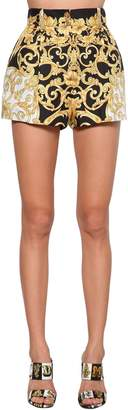Versace Printed Silk Twill Shorts