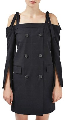 Women's Topshop Boutique Off The Shoulder Blazer Dress $180 thestylecure.com