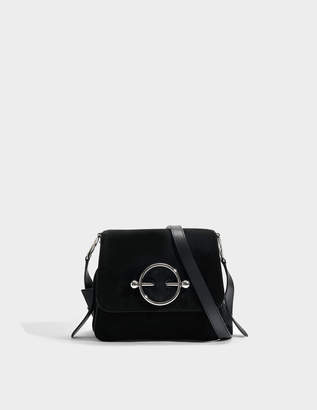J.W.Anderson Disc Bag in Black Suede and Calf Leather