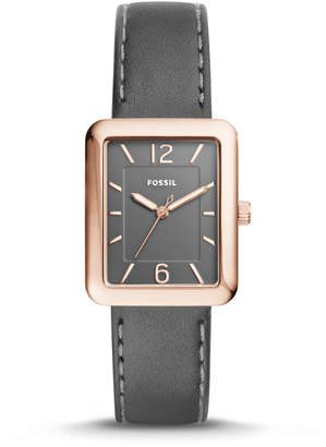 Fossil Atwater Three-Hand Gray Leather Watch