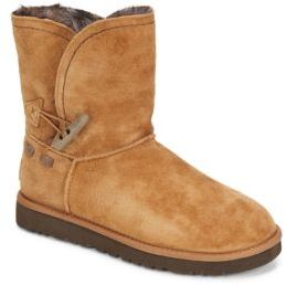 Meadow Shearling-Lined Suede Boots $250 thestylecure.com