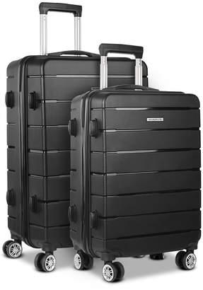 Dwelllifestyle 2 Piece Liven Luggage Suitcase Trolley Set