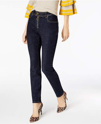 INC International Concepts I.n.c. Exposed-Zipper Super Stretch Skinny Jeans