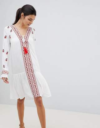 Anmol Embroidered Beach Cover Up