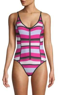 Proenza Schouler One-Piece Striped Swimsuit