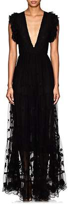 Ulla Johnson Women's Fifi Embroidered Tulle Maxi Dress
