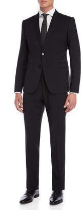 Armani Collezioni Two-Piece Black Wool Suit