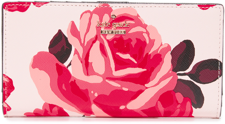 Kate Spade Kate Spade New York Roses Stacy Snap Wallet