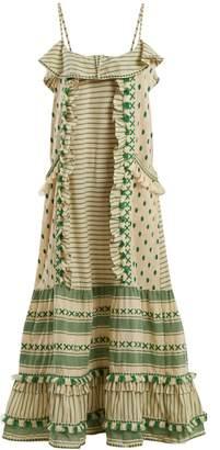 DAY Birger et Mikkelsen DODO BAR OR Peeri embroidered ruffle-trimmed cotton dress