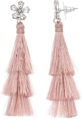 fb0eded851cad0 Lauren Conrad Blush Tiered Tassel Drop Earrings