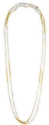 Chanel Faux Pearl & Crystal Station Necklace