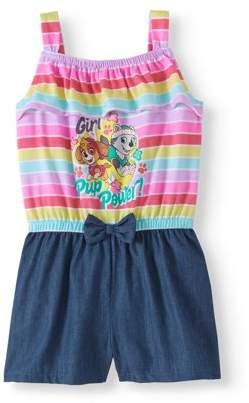 Paw Patrol Toddler Girl Sleeveless Tank Shorts Romper