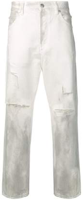 Balmain straight-fit ripped jeans