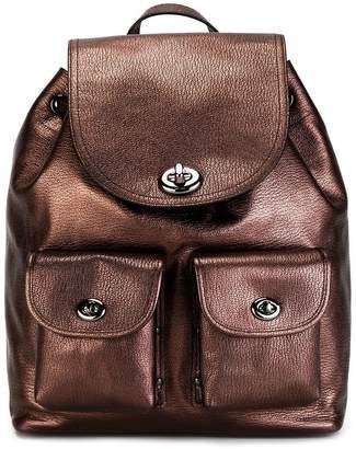 Coach metallic backpack