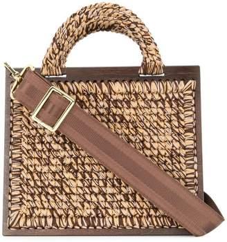 0711 St. Barts large woven handbag