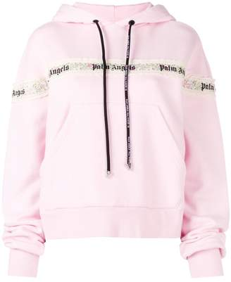 Palm Angels lace hoodie