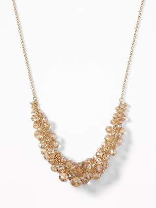 Old Navy Faceted-Bead Cluster Necklace for Women
