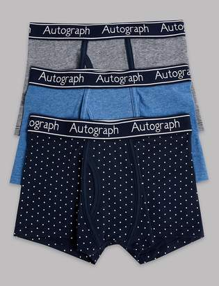 Marks and Spencer 3 Pack Cotton with Stretch Trunks (6-16 Years)