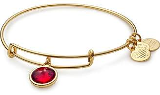 Alex and Ani January Birth Month Expandable Charm Bracelet, Garnet Crystal, Shiny Gold-Tone
