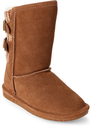 BearPaw Kids Girls) Hickory Boshie Real Fur Boots