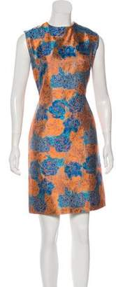 Alexander Lewis Silk Jacquard Dress