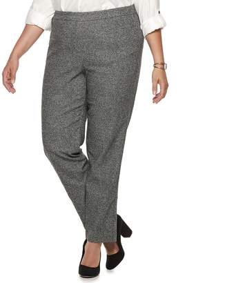Briggs Plus Size Millennium Tweed Mid-Rise Pants