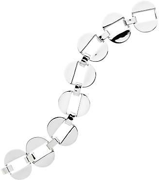 Monet Polished Oval Links Bracelet, Silver