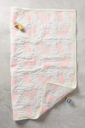 Anthropologie Pineapple Toddler Quilt & Playmat $98 thestylecure.com