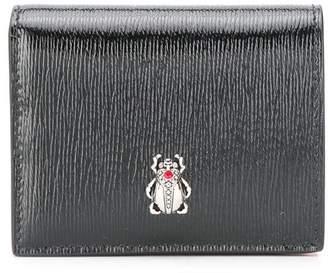 Alexander McQueen embellished logo wallet