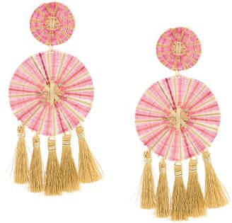 Mercedes Salazar large tassel earrings