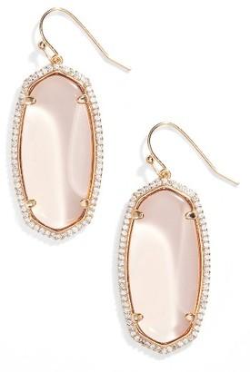 Women's Kendra Scott Elle Pave Drop Earrings $85 thestylecure.com