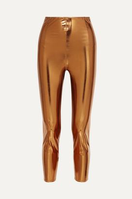 Lisa Marie Fernandez Karlie Metallic Stretch-vinyl Leggings - Bronze