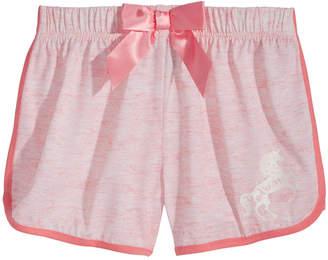 Max & Olivia Unicorn Graphic-Print Pajama Shorts, Little Girls & Big Girls