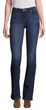 PAIGE Manhattan Bootcut Jeans $199 thestylecure.com