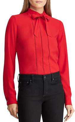 Ralph Lauren Tie-Neck Blouse