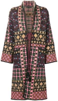Etro geometric print knitted coat