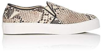 Barneys New York WOMEN'S STAMPED LEATHER SLIP-ON SNEAKERS