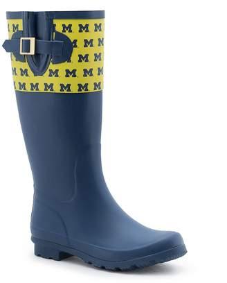 NCAA Women's Spirit Co. Michigan Wolverines Rain Boots