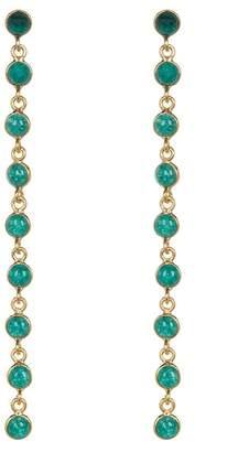 Forever Creations USA Inc. Gold Vermeil Emerald Multi Dangle Earrings