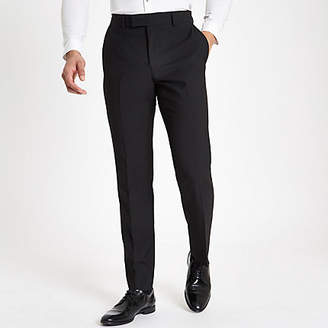 River Island Mens Black tailored suit trousers