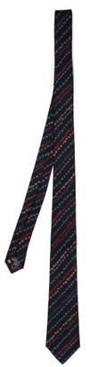 Paul Smith - Floral Print Silk Tie - Mens - Black