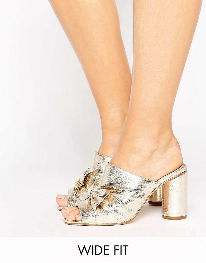 AsosASOS HEAVENLY Wide Fit Bow Mules