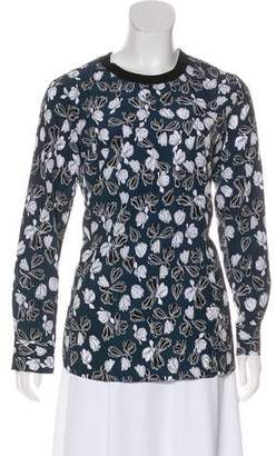 Thakoon Printed Long Sleeve Top