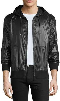 Balmain Men's Solid Nylon Wind-Resistant Jacket